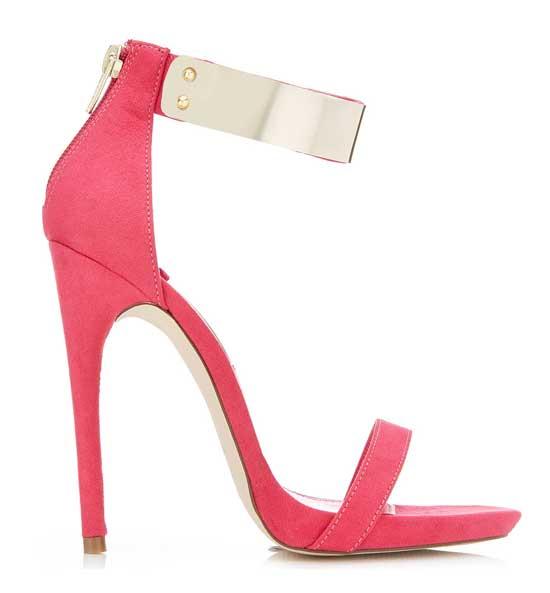 Miss Selfridge fuchsia high heeled sandals