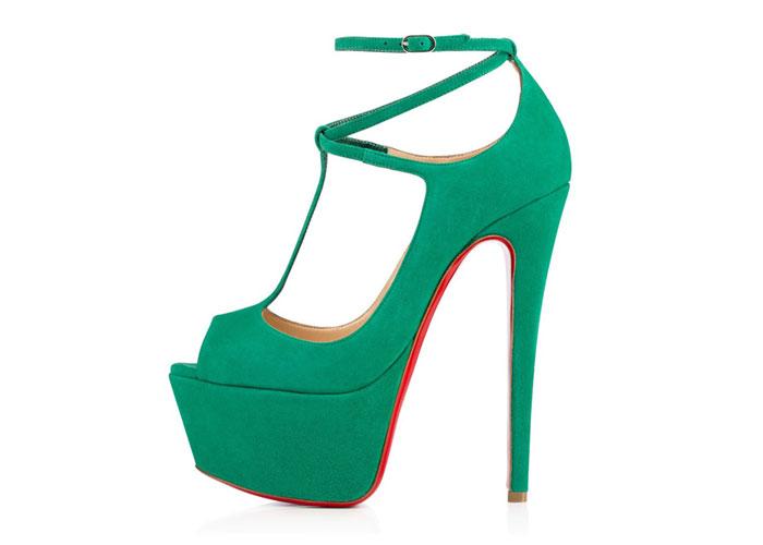 green Christian Louboutin shoes