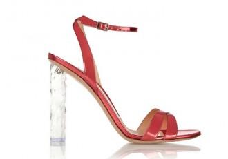 Gianvito Rossi red sandals with plexiglass heel