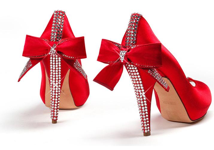 Aruna Seth Cerise embellished heels