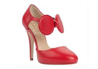 Minna Parikka 'Daisy Red' bow pumps