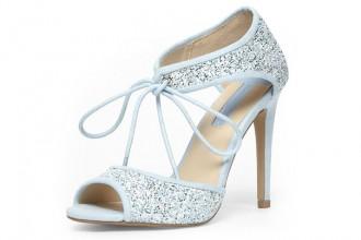Dorothy Perkins Blue Lace Up Ghillir Court Shoes