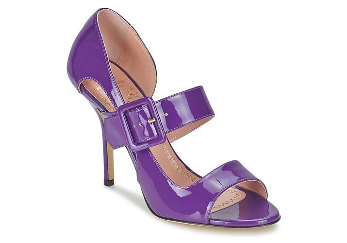 Moschino Cheap & Chic purple patent sandals