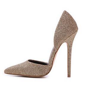 Carvela Albert d'orsay glitter heels