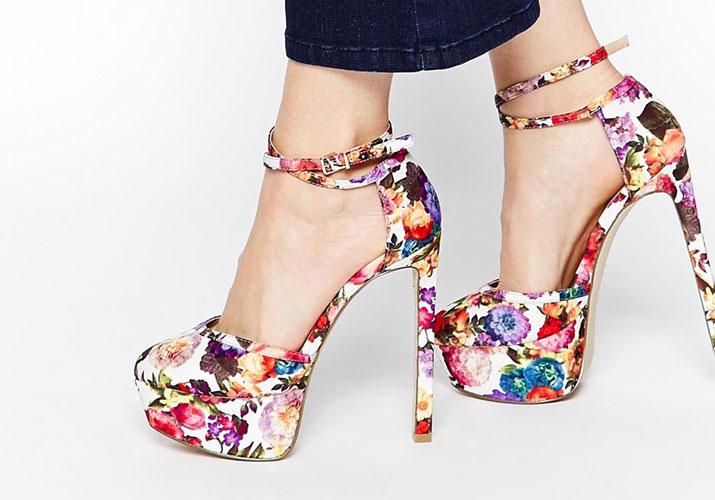 ASOS 'Pageant' floral plaftform shoes