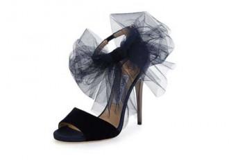 Jimmy Choo Lilyth Tulle Bow Evening Sandal