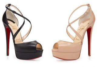 Christian Louboutin 'Cross Me' platform sandals