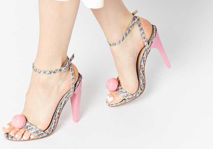 ASOS 'Hit On' heeled sandals