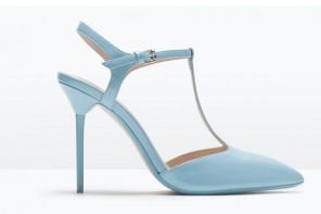 Zara baby blue t-bar heels