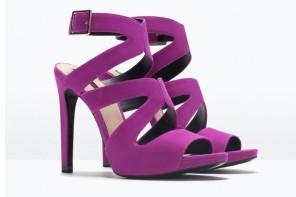 Zara purple high heel sandals