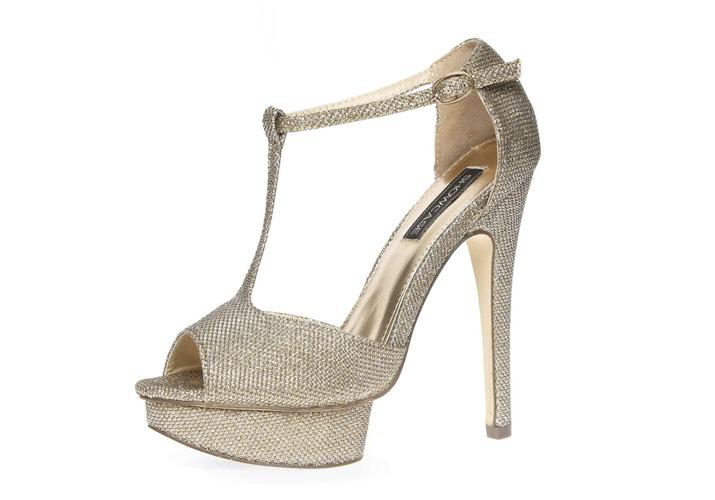 Dorothy Perkins gold t-bar sandals