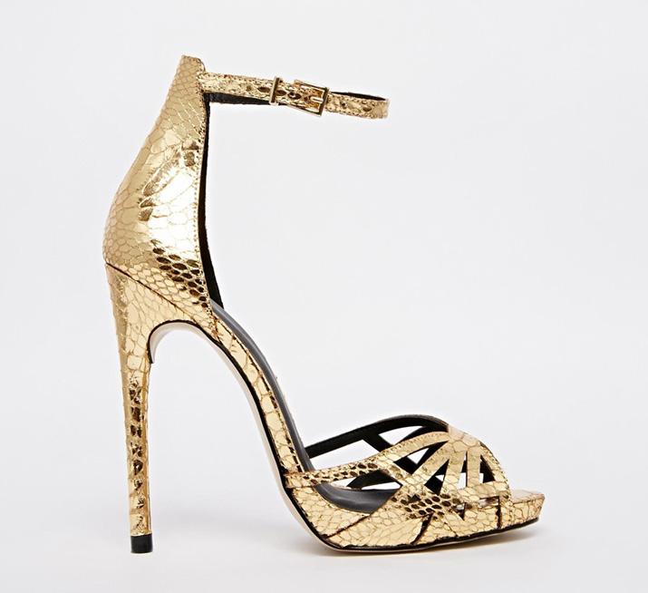 ASOS Harpist Gold Heeled Sandals