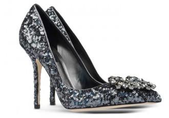 Dolce & Gabbana silver sequin high heels
