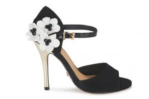 Ravel 'Daisy' black high heeled sandals