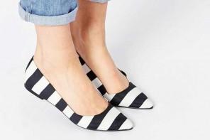 ASOS Life Story Stripe Ballet Flats
