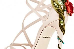 White strappy sandals by Dolce & Gabbana