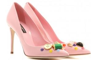 pale pink pumps by Dolce & Gabbana