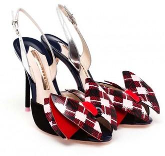 tartan shoes by Sophia Webster