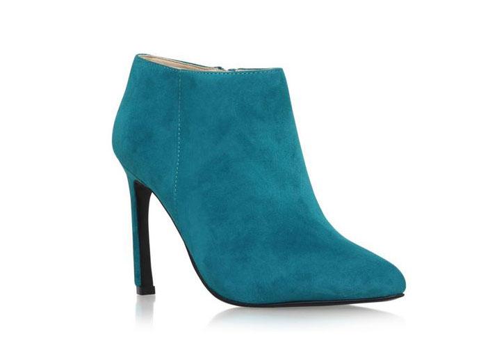 Nine West 'Sheelagh' teal ankle boots