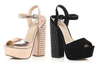 River Island embellished heel platform sandals