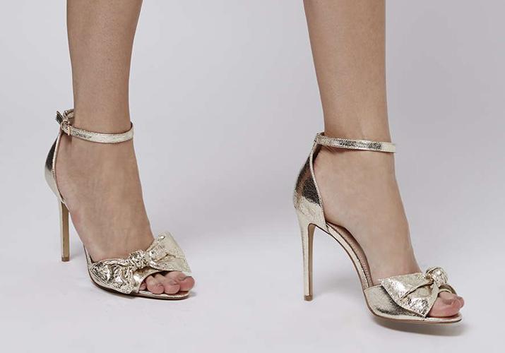 Topshop 'Rhiannon' bow skinny sandals