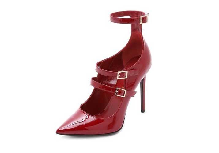 Tamara Mellon red patent shoes