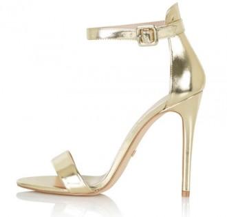 Topshop 'Rita' two-part skinny sandals