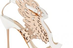 Sophia Webster Parisa laser-cut metallic leather sandals