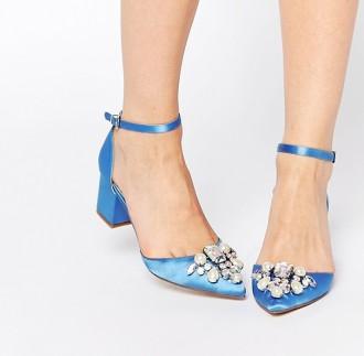 ASOS Saprkle low heeled shoes