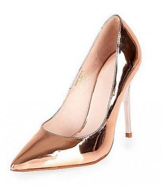 River Island rose gold metallic heels