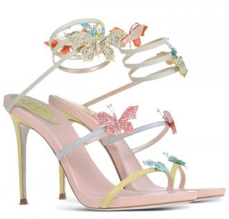 Rene Caovilla butterfly-embellished sandals