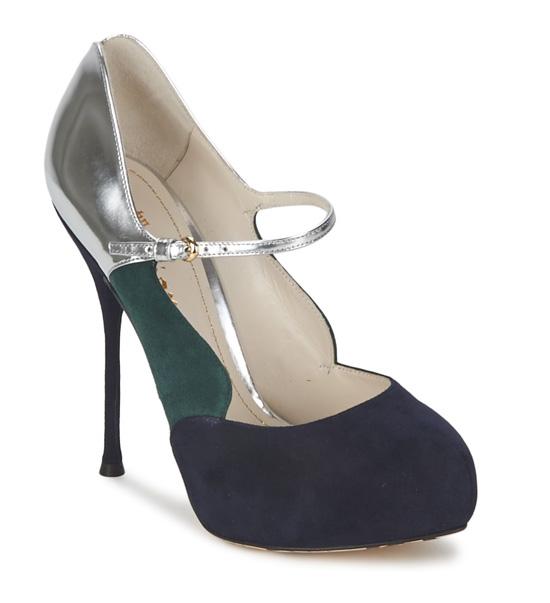 John Galliano suede court shoes