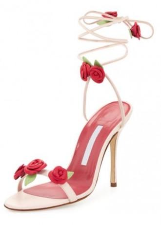 Manolo Blahnik flower sandals
