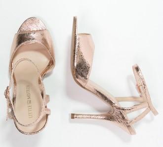 rose gold sandals by Little Mistress