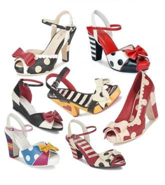 polka dot and stripe shoes