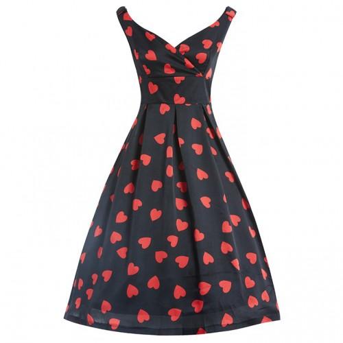 Fay heart print dress