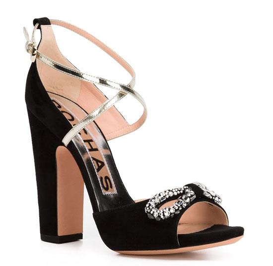 Rochas crystal crisscross sandals