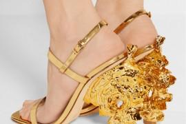 Tory Burch Firenza metallic leather sandals