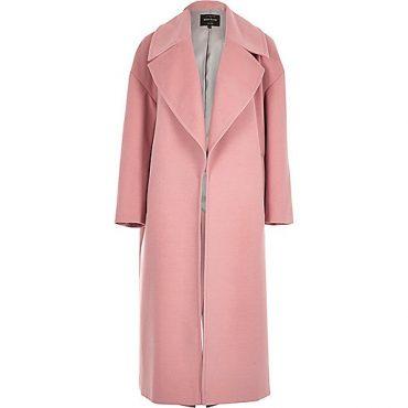 River Island pink coat