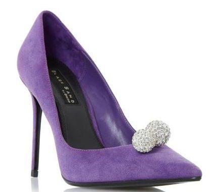 Dune 'Buckingham' purple embellished court shoes