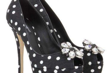 Dolce & Gabbana polka dot platform peep toes