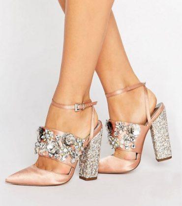 ASOS PAPAYA Bridal Embellished Heels