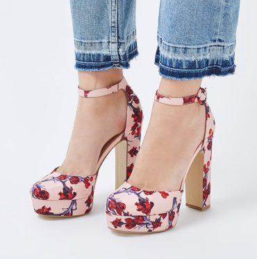 Topshop 'Meg' floral print platforms