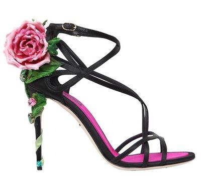 Dolce & Gabanna 'Keira' rose satin sandals
