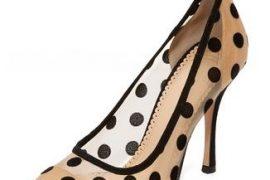 Charlotte Olympia 'Bacall' polka dot pumps