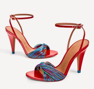 Zara multi strap high heeled sandals