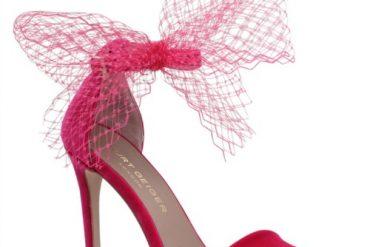 Kurt Gieger pink Suzette sandals with tulle trim