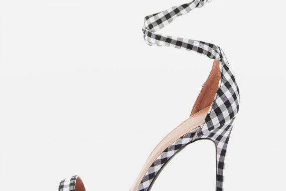 Topshop 'Majorca' skinny gingham stilettos