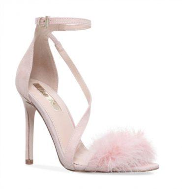 Miss KG 'Flirt' pink marabou trim high heels