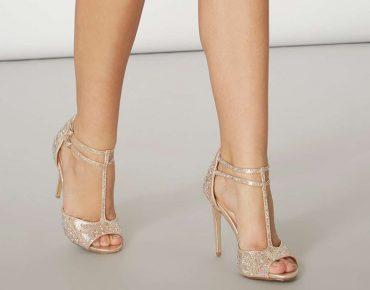 Showcase gold 'Swag' sandals